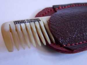 Edwards Horn comb and Oxblood case