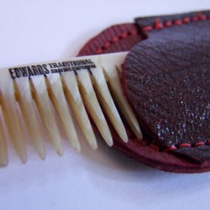 Edwards Horn comb and Oxblood case Traditional shaving