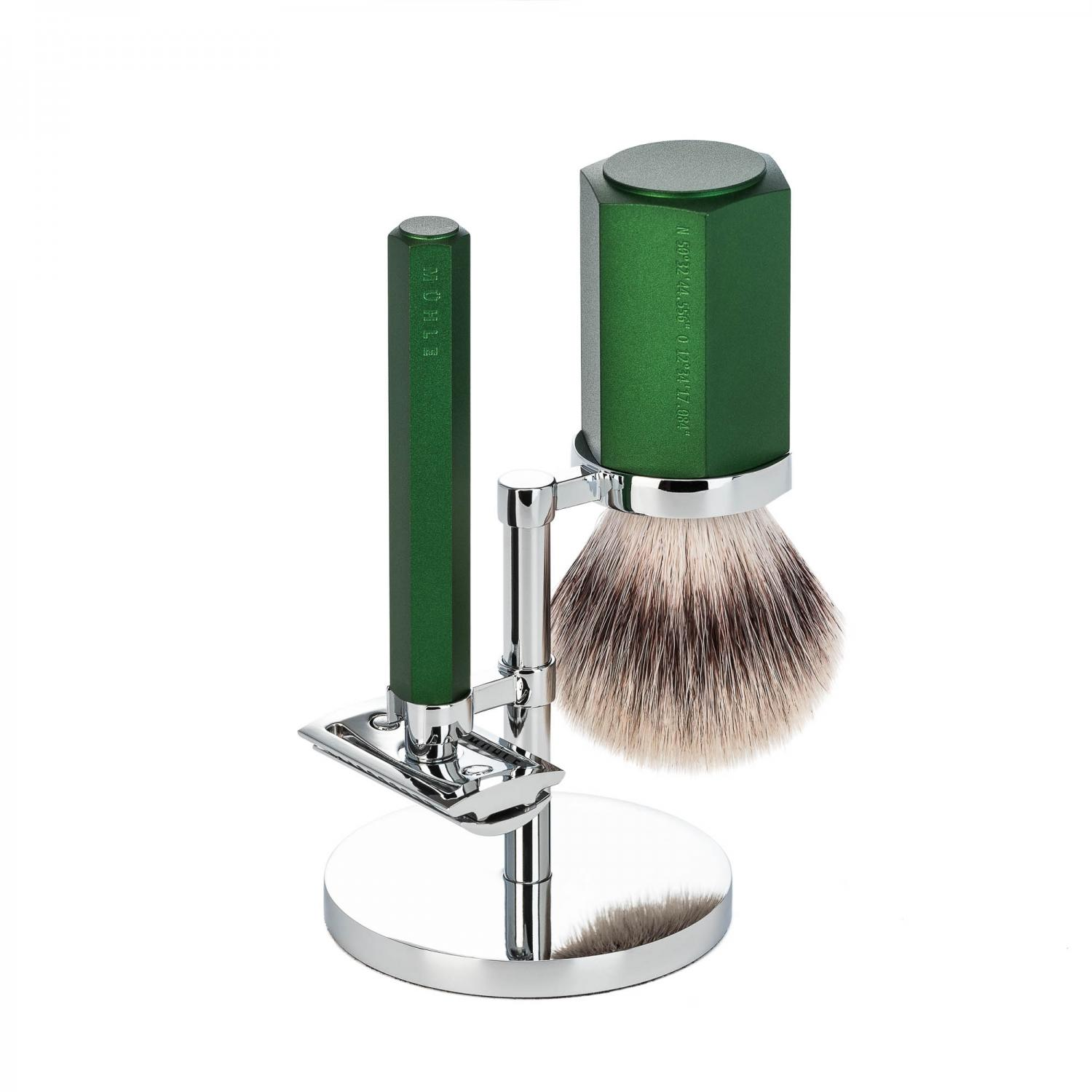 Muhle Hexagon 3PC Shaving Set Forest