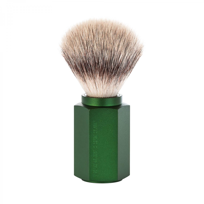 Muhle Hexagon Forest Silver Tip traditional shaving Brush Fiber