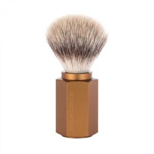 Muhle Hexagon Bronze Sliver tip Traditional Shaving Brush Fiber