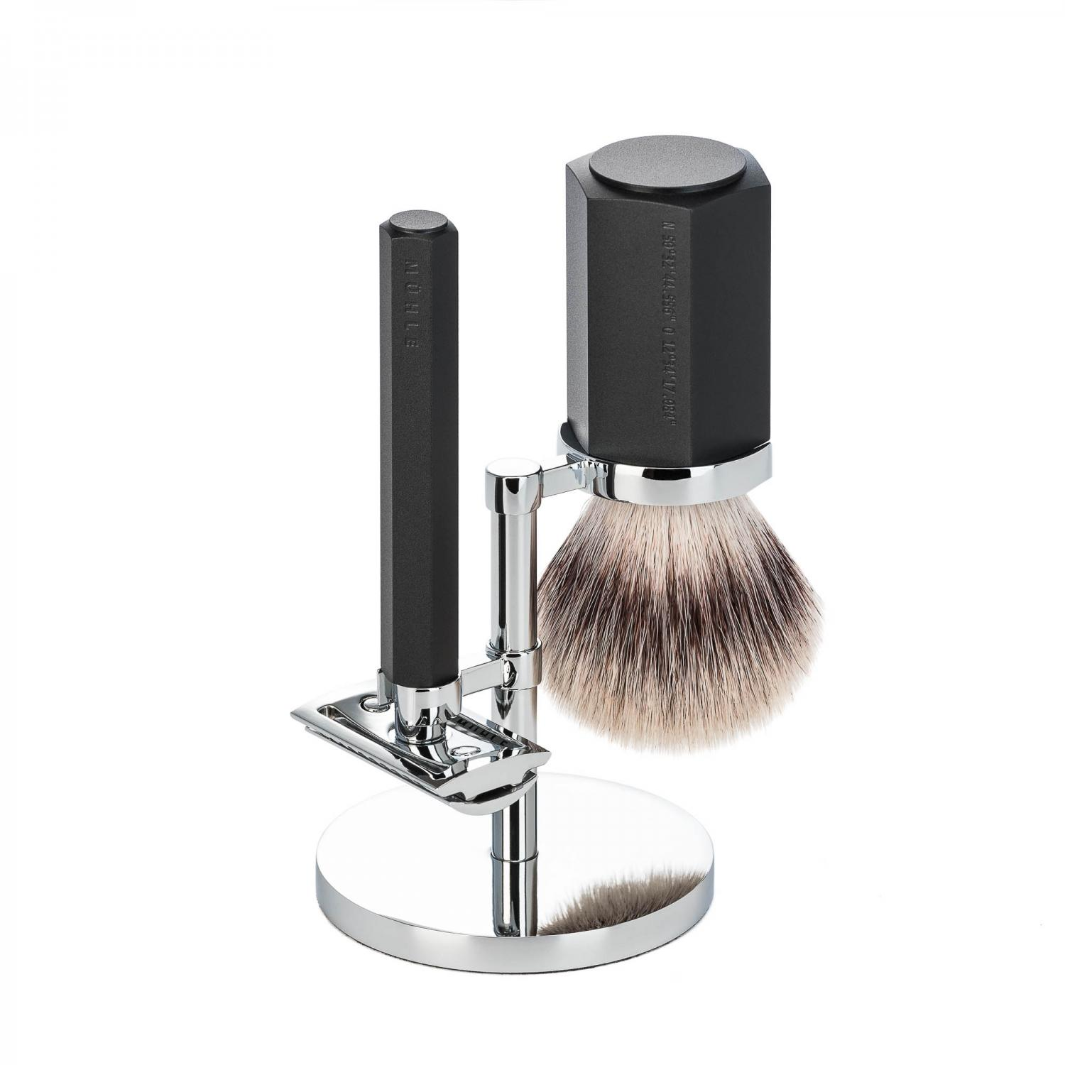 Muhle Graphite Hexagon shaving set