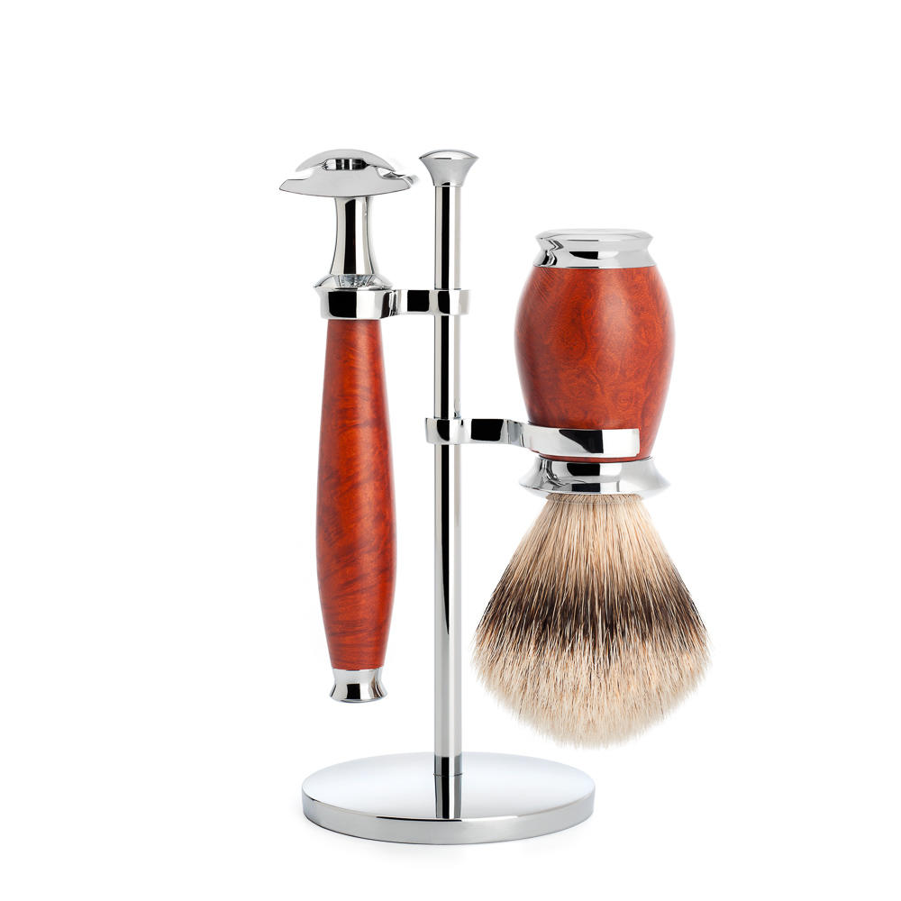 Muhle Purist traditional shaving set briarwood