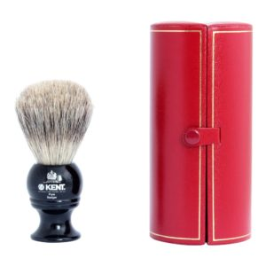 Kent Blk2 Black Pure badger traditional shaving brush