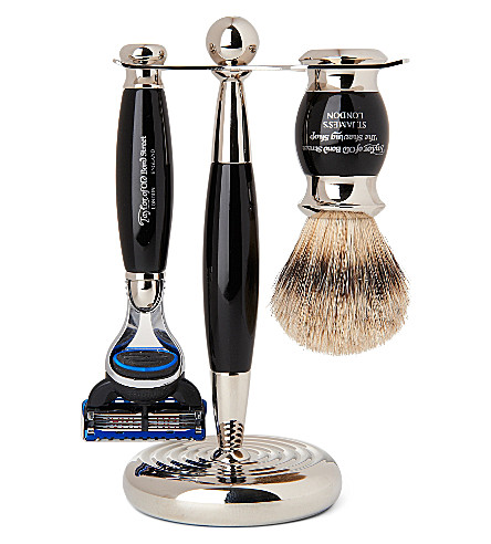 Taylor's Edwardian Black shaving set