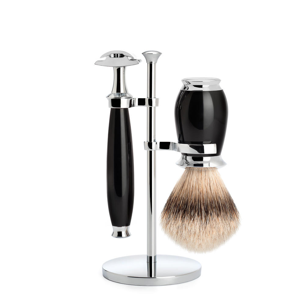 Muhle Purist black traditional Shaving set