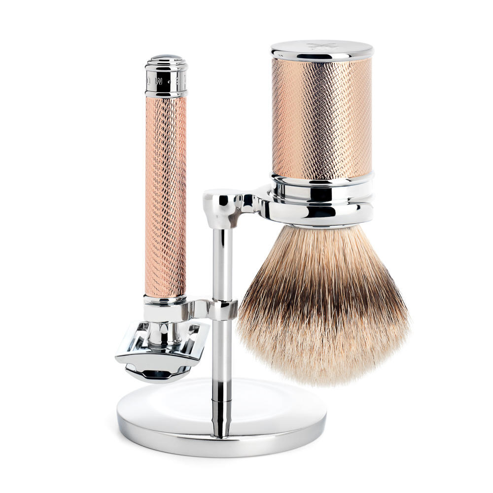The Muhle Rose Gold traditional shaving Set