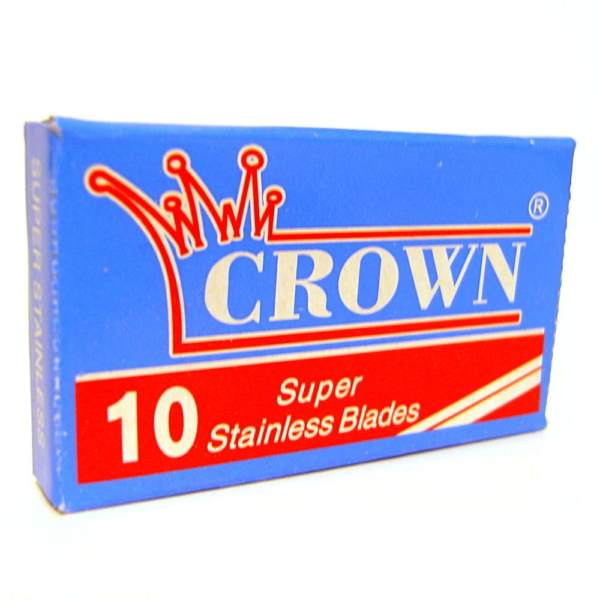 Crown double edged traditional shaving blades 10 pack