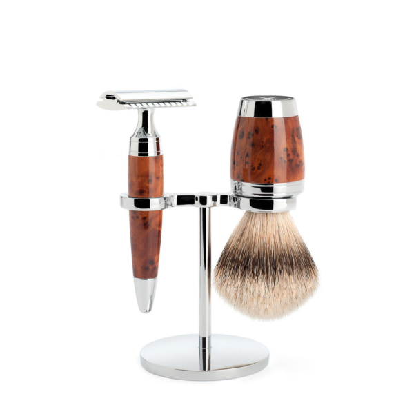 Muhle Stylo traditional Shaving set Thuja wood safety razor