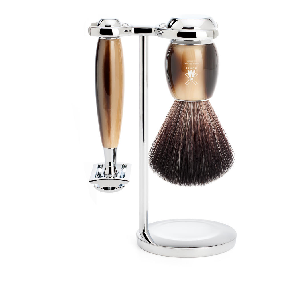 Vivo faux horn traditional shaving set Muhle