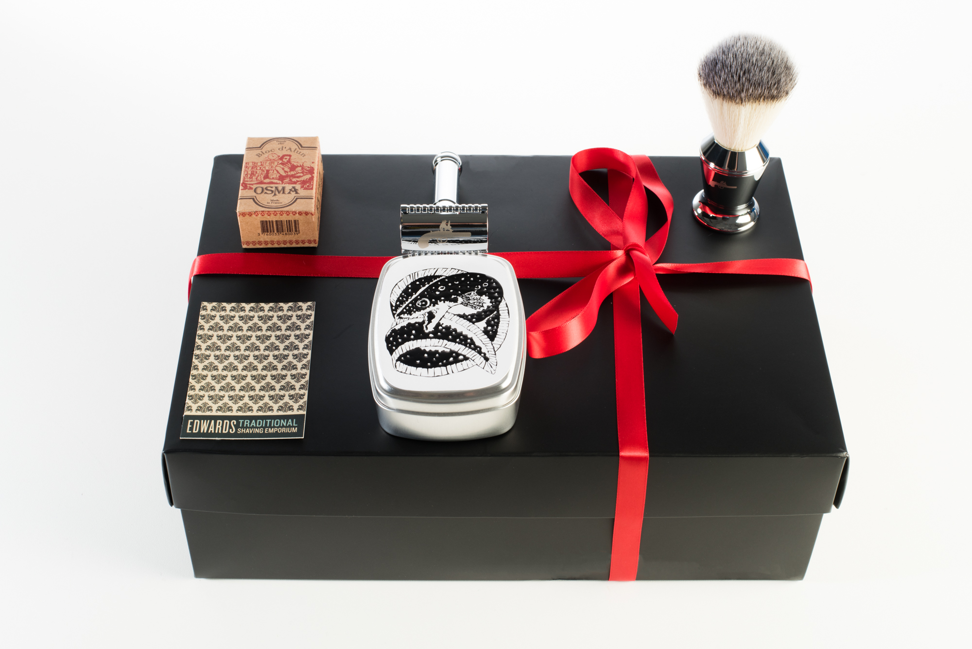 Christmas 5 piece traditional shaving bundle