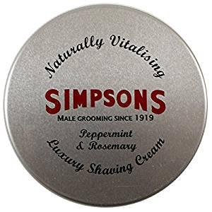 Simpsons Peppermint shaving cream